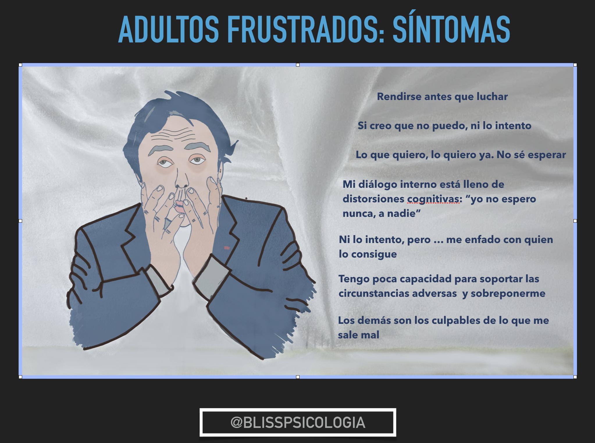 Frustración en adultos