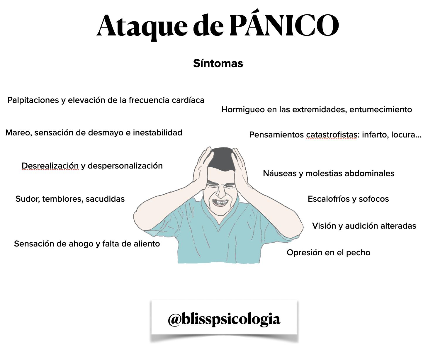 Hombre con ataque de pánico @blisspsicologia